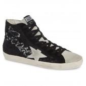 Francy Sequin Logo High Top Sneaker