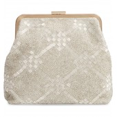 Flore Beaded Frame Clutch
