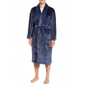 Windowpane Fleece Robe