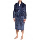 Windowpane Fleece Robe