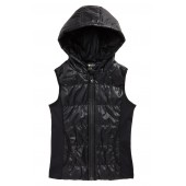 Zella Shine Quilted Hooded Vest