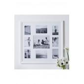 Nine-Aperture Wooden Picture Frame
