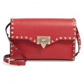 Medium Rockstud Leather Crossbody Bag