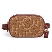 Signature Jacquard & Leather Belt Bag