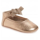 Rose Bow Metallic Ballet Flat