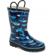 Pixel Shark Camo Rain Boot