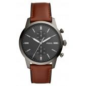 Townsman Chronograph Leather Strap Watch, 44mm