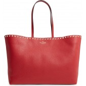 Rockstud Leather Tote