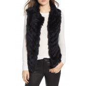 Genuine Rabbit Fur & Acrylic Knit Vest