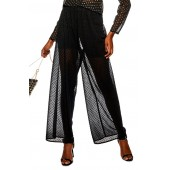 Sheer Spot Wide Leg Trousers