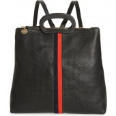 Marcelle Perforated Leather Backpack