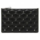 Large Candystud Leather Pouch