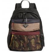 Tessuto Camo Patch Nylon Backpack