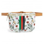 Floral Leather Supreme Fanny Pack