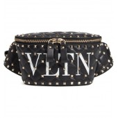 VLTN Logo Spike It Leather Belt Bag