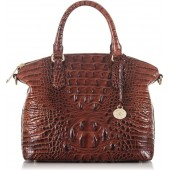'Medium Duxbury' Croc Embossed Leather Satchel