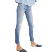9-Inch Torn Knee Skinny Jeans