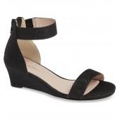 Cora Glitter Wedge Sandal