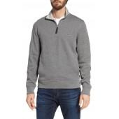 Quarter Zip Cotton Interlock Sweatshirt