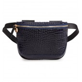 Croc Embossed Leather Fanny Pack