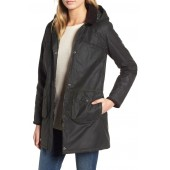 Sandbanks Water Resistant Waxed Cotton Hooded Jacket