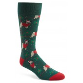 Holiday Santa Pug Socks