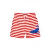 Mini Boden Bathers Stripe Swim Trunks