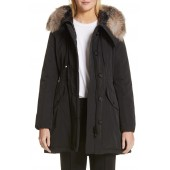 040a8327e5a Monticole Hooded Down Coat with Removable Genuine Fox Fur Trim