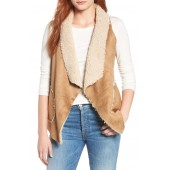 Easily Suede Faux Shearling Vest