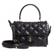Candystud Leather Top Handle Bag