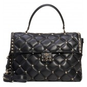 Large Candystud Lambskin Top Handle Satchel