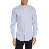 Irving Slim Fit Mini Cone Print Sport Shirt
