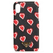 Heart Saffiano Leather iPhone X case