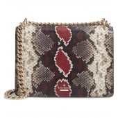 reese park - marci snake embossed leather shoulder bag