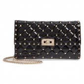 Rockstud Patent Leather Clutch
