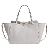 Medium Rockstud Leather Tote
