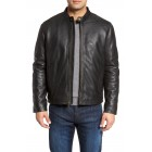 Lambskin Leather Moto Jacket
