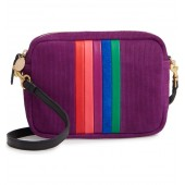 Midi Sac Rainbow Stripe Corduroy Crossbody Bag