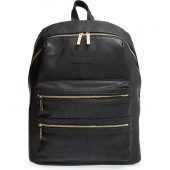 'City' Faux Leather Diaper Backpack