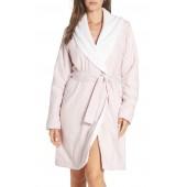 Anika Herringbone Fleece Robe