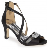 Badgley Mischka Kandall Hannah Embellished Cross Strap Sandal