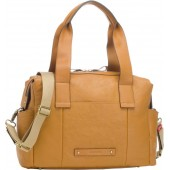 Kym Calfskin Leather Diaper Tote Bag