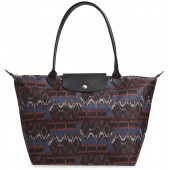 Le Pliage - Ikat Large Shoulder Tote