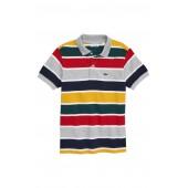 Multicolor Stripe Pique Polo