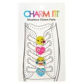 4-Pack Emoji Glitter Shoelace Charms