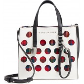 Perforated Tartan Plaid & Leather Tote