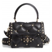 Mini Candystud Top Handle Leather Satchel
