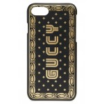 Guccy Logo Moon & Stars Leather iPhone 7 Case
