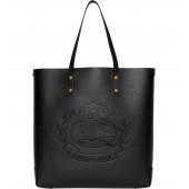 Embossed Crest Large Leather Tote