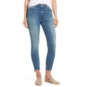 The Stunner High Rise Ankle Fray Jeans